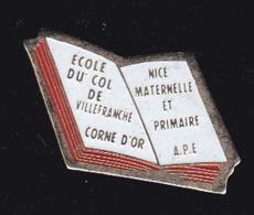 63751- Pin's-école Du Col De Villefranche.corne D'or. - Villes