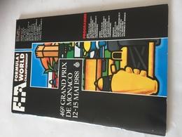 Programme OFFICIEL  Grand Prix De MONACO De F1 1988 - Automobile - F1