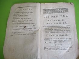 Fascicule Théâtre/Les DRUIDES/ TRAGEDIE En Cinq  Actes Et  En Vers/ Le BLANC /1772     FAT24 - 1701-1800