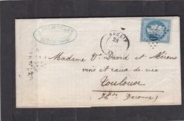 SECLIN ( NORD ) LAC + NAPOLEON   N°29B  Pour  TOULOUSE  -  28 DEC 1868 - REF 13712 - 1877-1920: Semi Modern Period