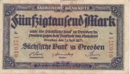 BILLETE DE ALEMANIA DE 50000 MARK DEL AÑO 1923 (BANKNOTE) - Zwischenscheine - Schatzanweisungen