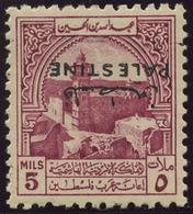 JORDAN OCCUPATION OF PALESTINE 1948 5 M. INVERTED OVERPRINT (SG PT 38a) MNH ** - Palestine