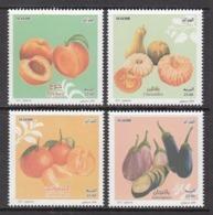 2017 Algeria Algerie Fruits Peaches Vegetables  Complete Set Of 4  MNH - Algeria (1962-...)