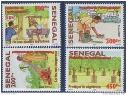 Sénégal 2008 Protection De L'environnement Voiture Car Auto Umweltschutz Environment Protection 4 Val. RARE MNH - Senegal (1960-...)
