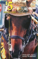 BAHAMAS  -  Phonecard  -  Batelco  - Horse  -  $ 5 - Bahama's