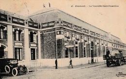 Jeumont La Nouvelle Gare Frontière Le Buffet Hôtel Ancienne Automobile Camion - Jeumont