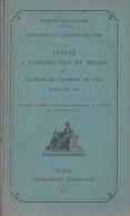 ANNEXE INSTRUCTION DE DETAIL SAPEURS CHEMINS DE FER  MILITAIRE VOIE DE 60 MINISTERE DE LA GUERRE 1927 - Libri