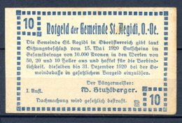 344-Sankt-Aegidi Billet De Pain Et Lait De 10h 1920 - Autriche