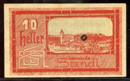344-Sandl Billet De 10h 1920 - Autriche