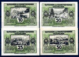 344-Saalfelden Billets De 10, 20, 25 Et 50h Verts - Autriche