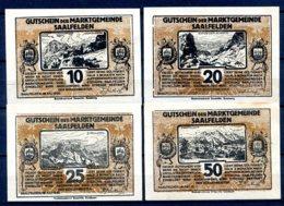 344-Saalfelden Billets De 10, 20, 25 Et 50h Bruns - Autriche