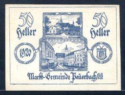 344-Peuerbach Billet De 50h 1920 - Autriche