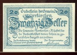 344-Pfarrkirchen Im Muehlkreiss Billets De 2x20 Et 2x50h 1920 - Autriche