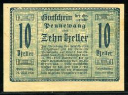 344-Pennewang Billets De 10, 20 Et 50h 1920 - Autriche