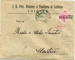 LEVANT AUTRICHIEN LETTRE AVEC OBL. LETTA ARRTA / PER MARE DEPART ZADAR 7 IX 99 POUR.. (AUSTRIAN LLYOD LIGNE ISTRIE/....) - Oostenrijkse Levant