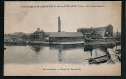 76, Huileries Et Savonneries Modernes Desmarais Freres, Le Havre-Graville, Vue Exterieure, Canal De Tancarville - Graville