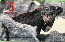 BAHAMAS  -  Phonecard  -  Batelco  - Iguane  -  $ 5 - Bahama's