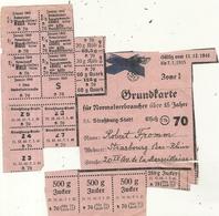 GUERRE 39/45 . LIBERATION DE SRASBOURG .GRUNDKARTE . CARTE ALL RAYEE ET REUTILISEE ! - Documents Historiques