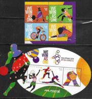 PHILIPPINES, 2019, MNH,SPORTS, SEA GAMES, CYCLING, BADMINTION, TENNIS, 4v+S/SHEET - Ciclismo