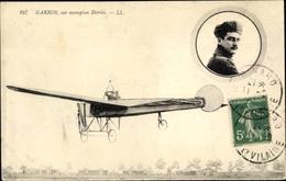 Cp Garros, Sur Monoplan Blériot, Flugpionier - Airplanes