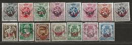 Belgique Service N° 7, 9 à 18, 20 à 25 (1929 - 1935) - Dienstzegels