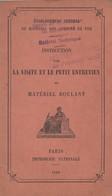 INSTRUCTION POUR LA VISITE ET LE PETIT ENTRETIEN DU MATERIEL ROULANT  DES CHEMINS DE FER MILITAIRE 1936 - Livres