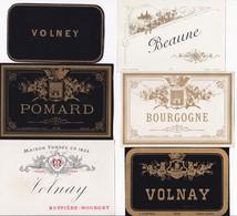 Lot De 18 Etiquettes Trés Anciennes De Vin BOURGOGNE - Imprimeur Vieillemard - Fin XIXéme RARE ! - Bourgogne