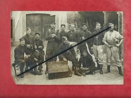 Carte Photo Abîmée - Souvenir De Champagne  Damery  1911 à Confirmer  ( Militaire , Militaires, Soldats , Soldat) - France