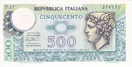 BILLETE DE ITALIA DE 500 LIRAS DEL AÑO 1976 -MEDUSA SIN CIRCULAR - UNCIRCULATED  (BANKNOTE) - [ 2] 1946-… : Repubblica