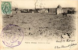 CPA AK Geiser 12 Figuig Zenaga, Entree Du Village ALGERIE (789658) - Algeria