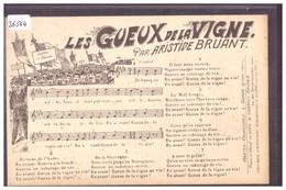 CARTE CHANSON - LES GUEUX DE LA VIGNE - PARTITION DE MUSIQUE ET PAROLES - TB - Music