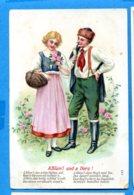 NY623, Relief, A Blüm'l Und A Herz ! , 598, Circulée 1907 - Tarjetas De Fantasía