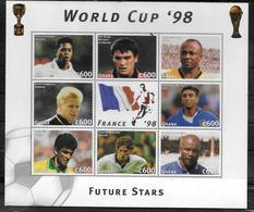 GHANA   Feuillet  N° 2057/64   * *   ( Cote 10e )     Cup 1998  Football   Soccer  Fussball - 1998 – France