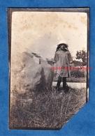 Photo Ancienne Snapshot - Secteur CHATEAU THIERRY ? - Petite Fille Prés D'un Monument Américain - WW1 - Krieg, Militär