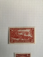 RC 15810 MONACO N° 123a COTE 550€ ROCHER NUANCE ROUGE BRIQUE NEUF *Avec Charnière. - Monaco