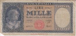 BILLETE DE ITALIA DE 1000 LIRAS DEL 25 DE SEPTIEMBRE DE 1961  (BANKNOTE) - [ 2] 1946-… : Repubblica
