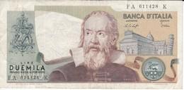BILLETE DE ITALIA DE 2000 LIRAS DEL AÑO 1976  GALILEO  (BANKNOTE) - 2000 Lire