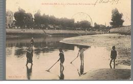 CPA Le Pouliguen (44) L'Entrée Du Port à Marée Basse De 1915 - Le Pouliguen
