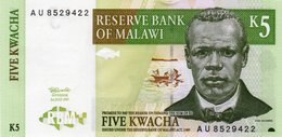 MALAWI 5 KWACHA 1997 P-36a UNC - Malawi