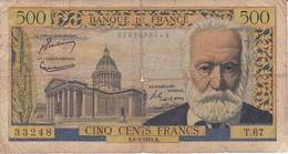 BILLETE DE FRANCIA DE 500 FRANCS DEL 6-1-1955 DE VICTOR HUGO   (BANKNOTE) - 1955-1959 Sovraccarichi In Nuovi Franchi