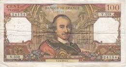BILLETE DE FRANCIA DE 100 FRANCOS DEL 1-4-1971 CORNEILLE  (BANKNOTE) - 1962-1997 ''Francs''