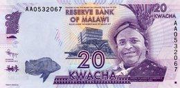 MALAWI 20 KWACHA 2012  P-57a  UNC - Malawi