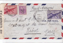 Enveloppe New York USA Vers Le Maroc 1942 - Vereinigte Staaten