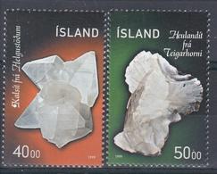 +Iceland 1999. Minerals. Michel 917-18. AFA 902-03. MNH(**) - 1944-... Repubblica