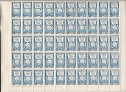 Feuille Complète De 50  Timbres Du N° 771 UNESCO Paris 1946. - Feuilles Complètes