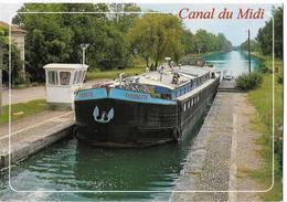 BATEAUX - Péniche FLEURETTE Sur Le Canal Du Midi - Péniches