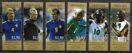 GRENADE  N° 4232/37   * *   ( Cote 13.50e )     Cup 2002  Football   Soccer  Fussball - 2002 – Corée Du Sud / Japon