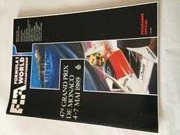 Programme OFFICIEL 47e Grand Prix De MONACO F1 1989 - Automobile - F1