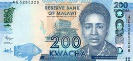 MALAWI 200 KWACHA 2012  P-60a  UNC - Malawi
