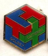 F171 Pin's Vosges GOLBEY ELECTRONIQUE Rubix Cube Rubixcube Achat Immédiat - Villes